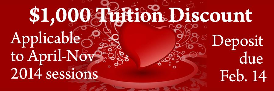 Feb. 14 University $1,000 discount
