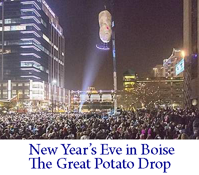 New Years Eve Potato Drop in Boise ID