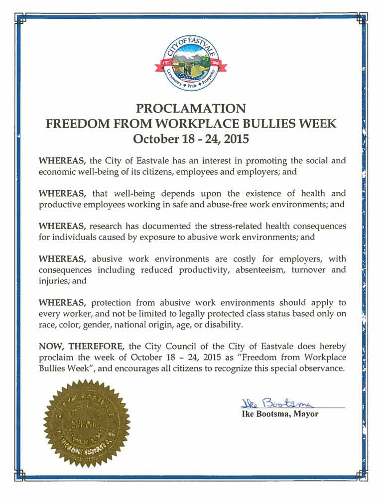San Francisco  What is the WBI Workplace Bullying